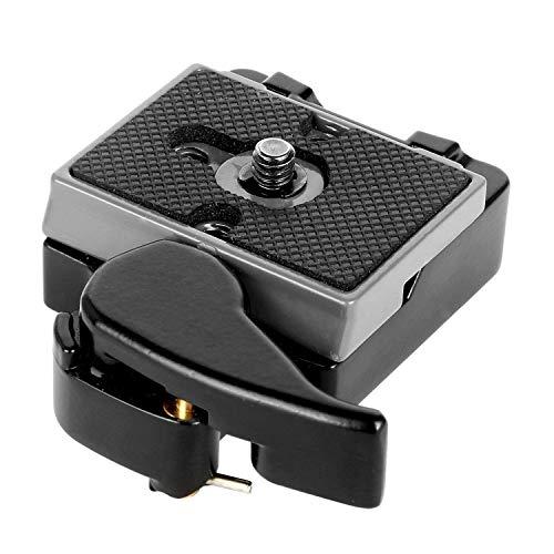 Gaetooely Nero Fotocamera 323 Piastra Rapida con Speciale Adattatore (200PL-14) Compatibile con Manfrotto 323 Treppiedi Monopiede Fotocamere DSLR (Nuova Versione)