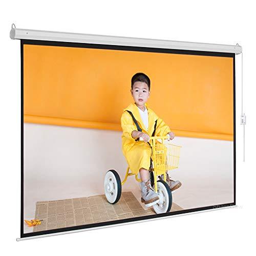 XJJZS Pantalla de proyector motorizado 60-84'16: 9 Pantalla de proyección Blanca Mate de Monte de Pared con Control Remoto de activación de 12V para el Cine en casa (Size : 84 Inch)