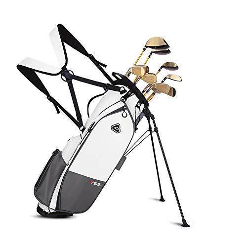 Stehende Golfschlägertaschen Für Herren Und Damen, Tragbare Golf Ultralight Cart Bag, wasserdichte Und Langlebige Golfschlägertaschen mit 14 Schlägern, mit Schirmständer, Golfausrüstung