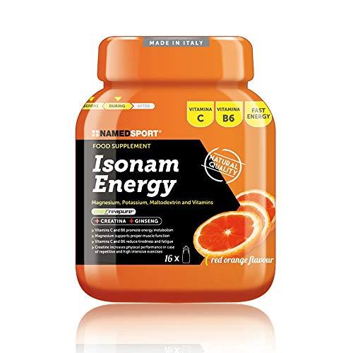 Isonam Energy - Named - Bevanda idrosalina isotonica con Sali Minerali, Maltodestrine e Vitamine (Gusto: ARANCIO)