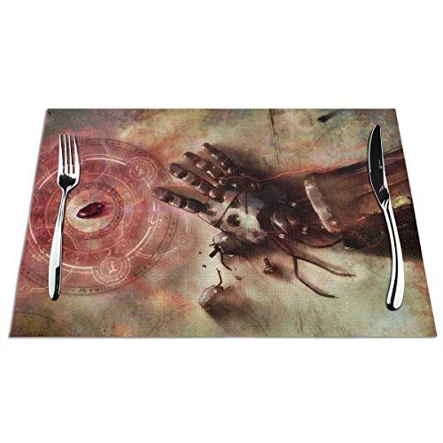 ALBXSWRR - Salvamanteles de alquimista de PVC, 45,7 x 30,5 cm, con Aislamiento térmico, Resistente a Las Manchas, para Mesa de Comedor, Alfombrillas de Cocina duraderas, Lavables, 4 Unidades