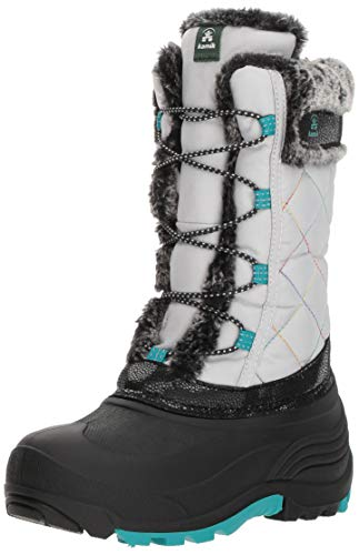Kamik Girls' Star Snow Boot, Silver, 12 Medium US Little Kid