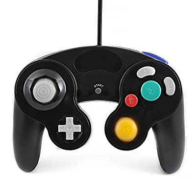 QUMOX black wired classic controller joypad gamepad for nintendo gamecube gc & wii