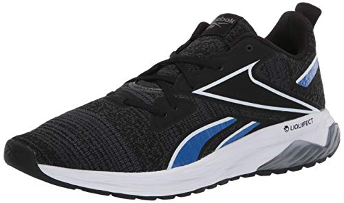 Reebok Men's LIQUIFECT 180 LS Running Shoe, Black/White/Humble Blue, 10.5 M US
