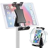 NUOMIC Tablet Stativ Halterung Adapter, 360° Drehbarer Tablet Halterung Stativ zum Aufnehmen von...