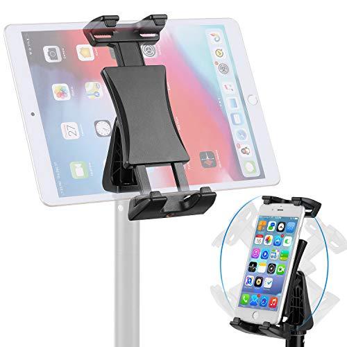 NUOMIC Tablet Stativ Halterung Adapter, 360° Drehbarer Tablet Halterung Stativ zum Aufnehmen von Fotos und Videos, Verstellbarer Tablet Stativ Ständer Kompatibel mit Ipad Serie 4.7-12.9 Zoll