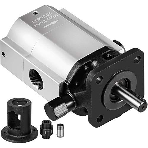 Bestauto Log Splitter Pump Kit 16 GPM Hydraulic Pump Log Splitter 2-Stage Hydraulic Pump with Jaw Coupler and Pump Bracket for Small Engine Mounting Wood Splitter and Wood Splitter Pump Parts