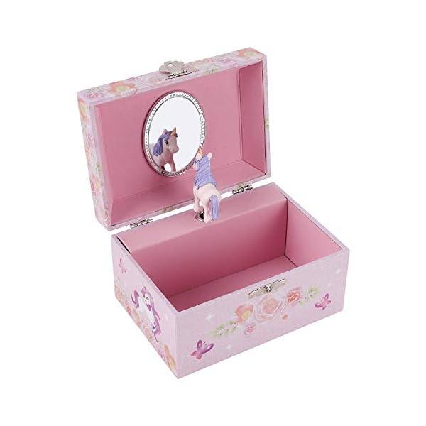 TAOPU Sweet Musical Jewelry Box with Spinning Cute Unicorn Figurines Music Box Jewel Storage Case for Girls 5