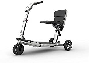 ATTO Travel Foldable Power Electric Mobility Scooter for Adults, Full-Size, Lithium Battery + Seat Cushion