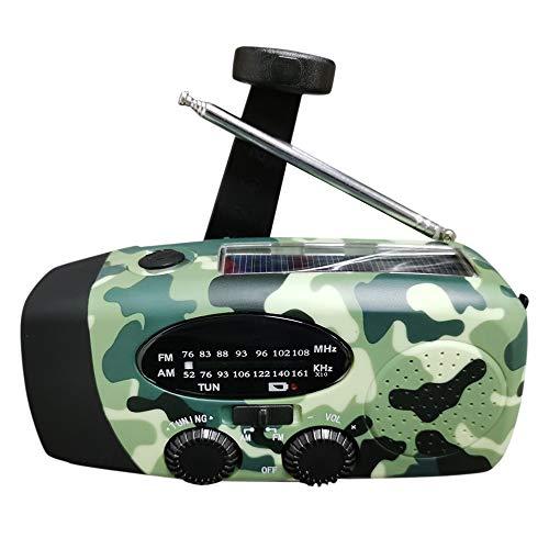 duoying Handc Rank Weather Radio Alto Rendimiento Manivela Generador Cargador Herramienta Cuchillo 1200mah Dynamo Crank