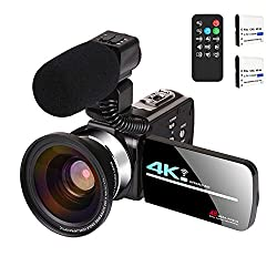 top rated Video camera with microphone 4K streaming video camera Webcam KOMERY 4K WiFi DVR… 2021