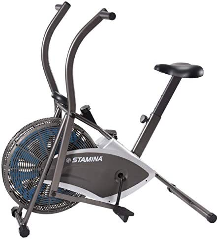 Stamina Air Resistance Exercise Bike 876 Silver Gray product image
