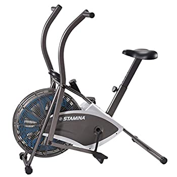 Stamina Air Resistance Bike 876 | Dynamic Adjustable Tension | Multi-Function LCD Monitor | Dual-Action Arms to Engage The Upper Body