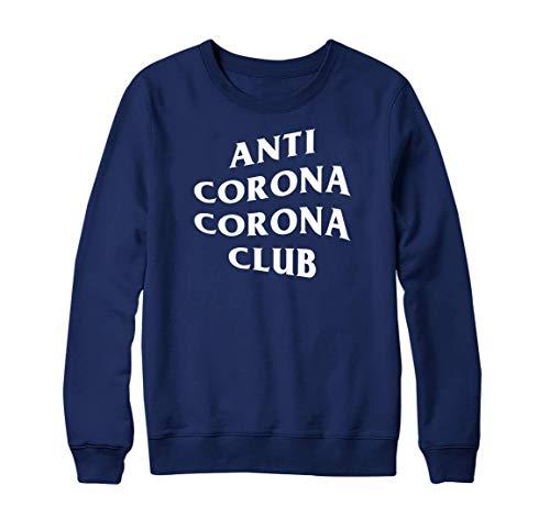 Anti Corona Club Felpa Lockdown 2021 isolato sociale distanza quarantena Marina Militare 5-6 Anni