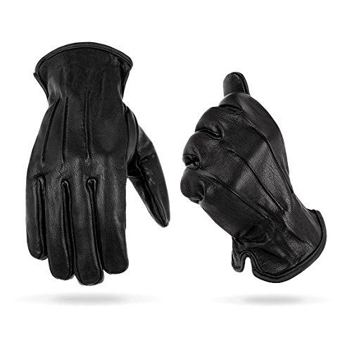 Black Snake Tactical Einsatzhandschuhe mit Kevlar Schnittschutz Glattlederhandschuh in verschiedenen Größen Schwarz S