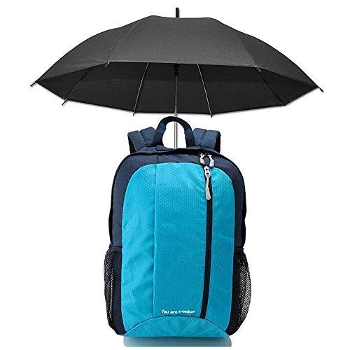 SHRAY Backpack with Umbrella Back Bag,Multifunctional Sports Walking Bag, Outdoor Travel Hiking Fishing Hair Flyer Sunscreen Sunny Rain Lazy Hands-Free Sunshade Backpack Blue