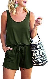 REORIA Womens Summer Scoop Neck Sleeveless Tank Top Short...
