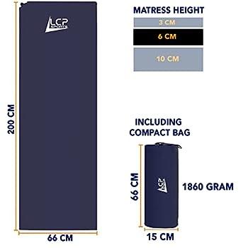 LCP Sports Matelas Auto-Gonflable Tapis Mixte 200x66x10 cm, Bleu