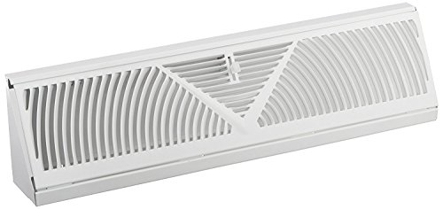 Rocky Mountain Goods Baseboard Register Vent- RoundFlow Design for Maximum air Flow - Smooth air Adjust Lever - Heavy Duty Steel - Easy Install (15