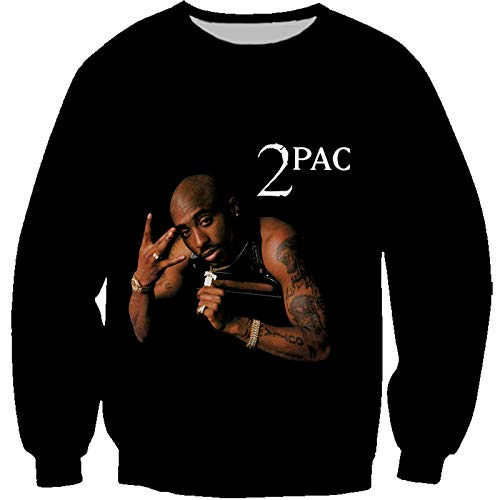 CCEE Hip Hop Rap 2Pac Hoodie Herren- Und Damen-Sweatshirt Tupac Fashion Hooded Sweater Lässig Loose Street Jacket T-Shirt Normale Dicke