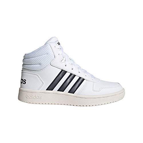 adidas Hoops MID 2.0 K Basketballschuh, FTWR White Legend Ink Cloud White, 36 EU