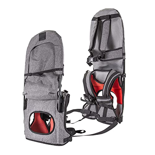 Shoulder Carrier, XTELARY Child Toddler Portable Hiking Carrier Hands-Free Foldable Shoulder Saddle, Ankle Straps Backpack Suitable for Kids 1-5 Years Old, Holds up to 45 Pound