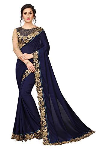 Bollywood Indian Saree Pakistani Designer Sari Party Wear Saree Bridal Wedding Saree Blue