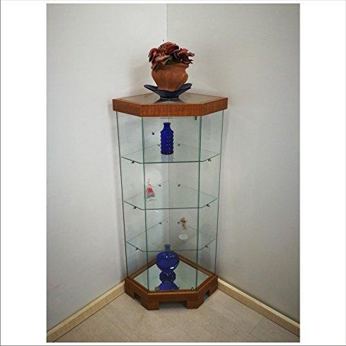 VM ART DESIGN GLASS Glasvitrine zum Ecke Ethnic Style VME500T (Kirschholz (Cherry))