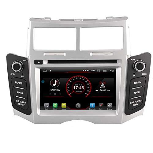 Autosion Android 10 Reproductor de DVD GPS estéreo Unidad Naviar Radio Multimedia WiFi para Toyota Yaris 2005 2006 2007 2008 2009 2010 2011 Soporte de Control del Volante