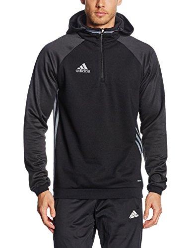 adidas Herren Kapuzenpullover Condivo 16 Fleece, Black/Vista Grey S15, M, AJ6908