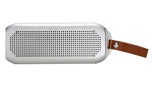GRANDEY NFC Wireless Bluetooth Shower Waterproof 2x5W Speaker(IPx7), Fully Submersible & Aluminium Alloy Portable Design Compatible with All Cell Phone & Bluetooth Devices with Built-in Mic (Sliver)