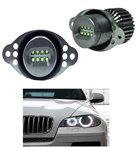 ICBEAMER E90,E91,LCI Fit BMW Angel Eye Halo Ring LED Bulbs White Color (ONLY Works on Non Projector Headlight)
