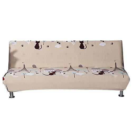 lossomly Gaudily - Funda elástica para sofá de 3 plazas, antideslizante, universal, impresa, respetuosa con la piel, para sofá o toalla (sin reposabrazos, 160 x 190 cm)