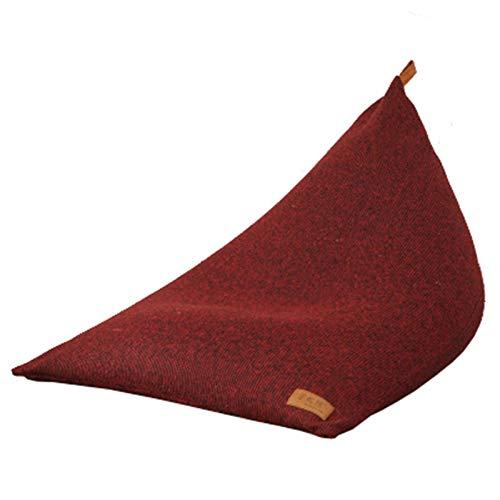 QinWenYan Sillón Puf Silla De La Bolsa De Frijoles Sofá Perezoso Bolsa De Frijoles Silla De Almacenamiento para Adultos Y Niños 120x90x90cm para Sala de Estar (Color : Red, Size : 120x90x90cm)