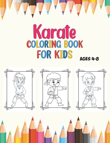 Karate Coloring Book For Kids Age 4…