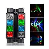 CHENJIA Mini RGBW Moving Head Effect Bühnenscheinwerfer, LED-Spinne DJ Lichter, Automatische Ton...