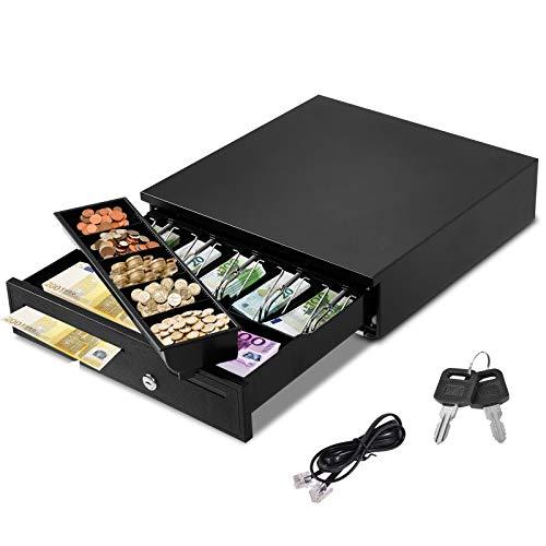 GOPLUS Registratore di Cassa Automatico Cassetto Porta Contanti Cassetto per Cassa Apertura Automatica
