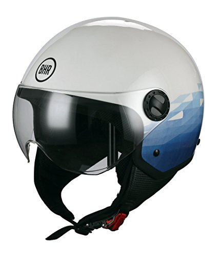 BHR 57721 Casco Demi-Jet Linea One 801, Sky, multicolor, talla XL
