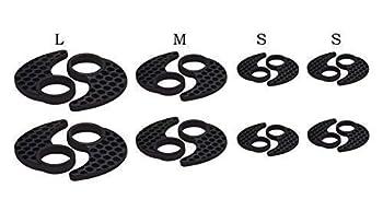 4 Pairs Anti-Slip Ear Fins - Ear Hooks Replacement for jaybird X2 X3 jaybird Blue Bud X Aukey Latitude Ear Buds Qy7 QY8 Earphones MPOW Swift Earphones
