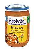 Bebivita  Menüs ab 8. Monat, Paella mit Gemüse und Alaska-Seelachs, 6er Pack (6 x 220 g)