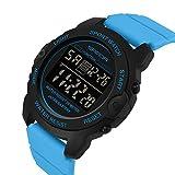 ZHEBEI Deportes señoras reloj moda ocio impermeable LED reloj digital femenino azul negro