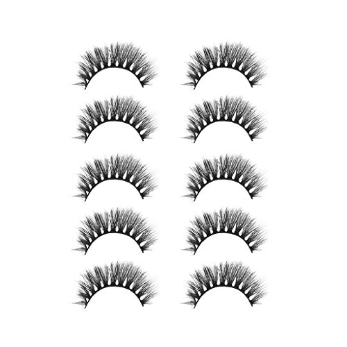 TOWAKM Wimpern, Sexy Party 3D Falsche Wimpern Lashes VoluminöSe Eye Lashes 5 Paar Make Up Lashes