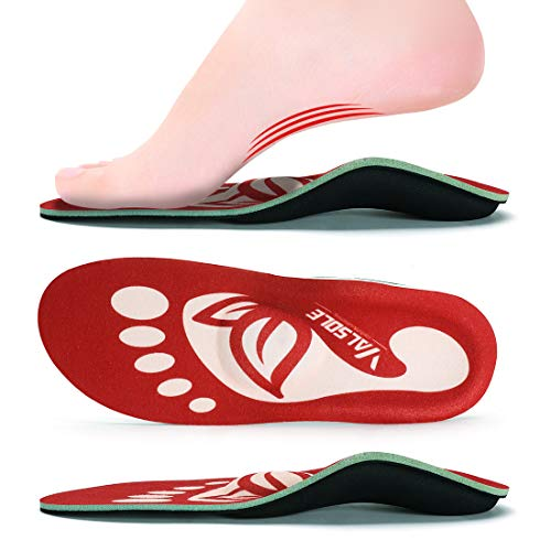 VALSOLE Plantar Fasciitis Insoles for Men and Women Arch Supports Orthotics Shoe...