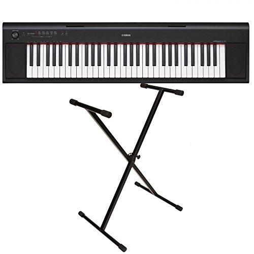 Yamaha NP-12 - Piano digital con soporte en X, color negro