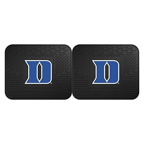 Fanmats 13218 Duke University Blue Devils Rear Second Row Vinyl Heavy Duty Utility Mat, (Pack of 2),Black,14x17