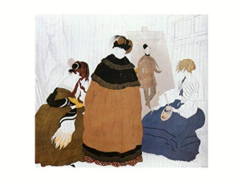 L. Bakst - Sketch for the poster of the exhibition of Russian painters Vienna. 60x80cm