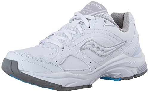 Saucony Women's ProGrid Integrity ST2 Walking Shoe, White/Silver, 8.5 2E