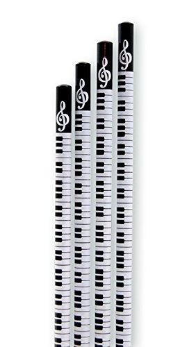 Bleistift Tastatur ohne Radiergummi (10-Stück-Packung) - Schönes Geschenk für Musiker - Musikschüler