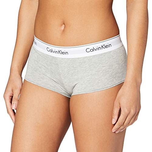 Calvin Klein Damen MODERN COTTON - SHORT Panties, Grau (GREY HEATHER 020), M