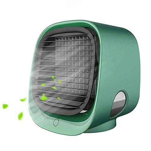 DSY Portable Air Cooler, Mini Air Conditioner Cooler and Humidifier, Small Evaporative Cooler Purifier, 3 Fan Speed, Personal Mobile Air Cooling Fan for Home Bedroom Office (Green)